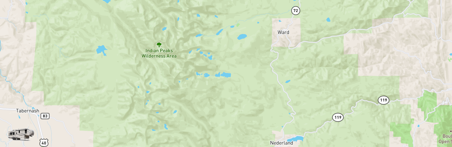 Fifth Wheel Rentals Map Eastern Slope, CO
