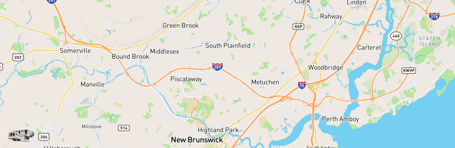 Fifth Wheel Rentals Map Edison, NJ