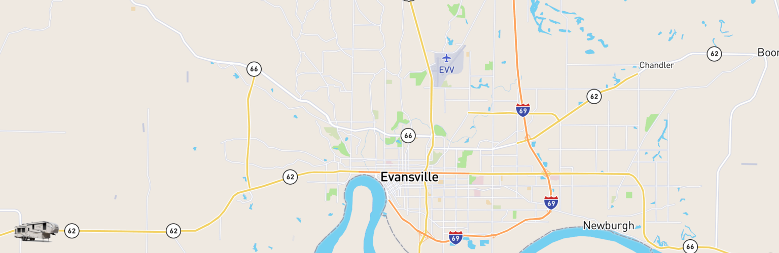Fifth Wheel Rentals Map Evansville, IN