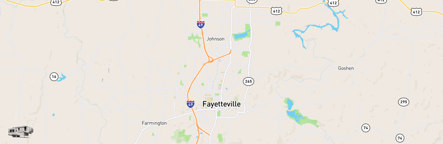 Fifth Wheel Rentals Map Fayetteville, AR