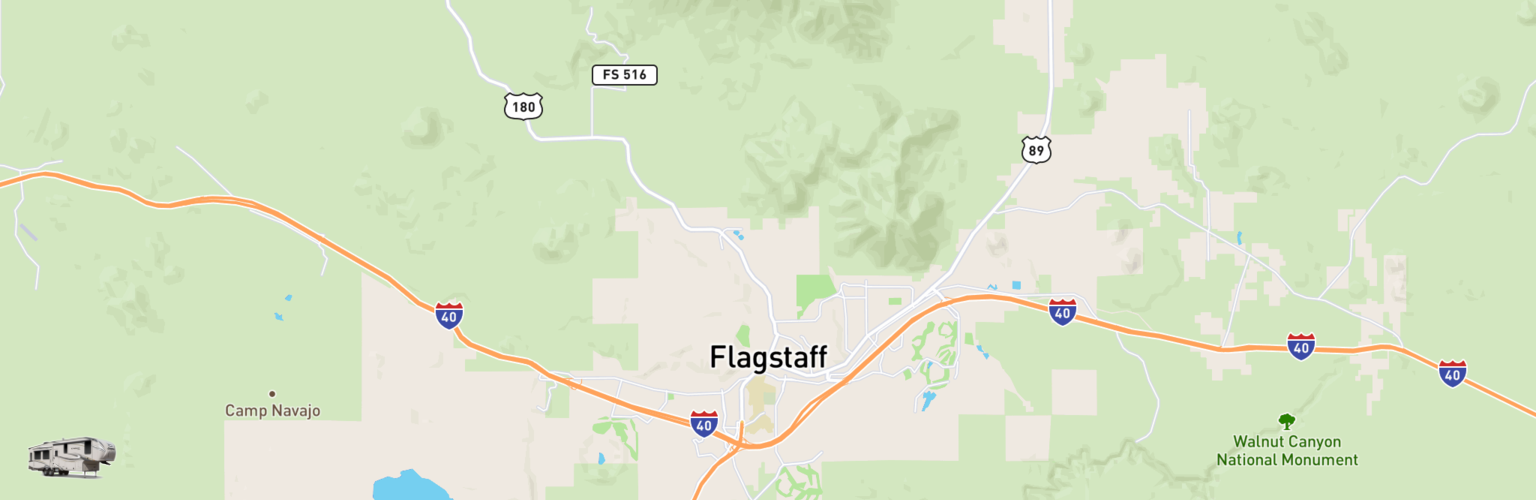 Fifth Wheel Rentals Map Flagstaff, AZ