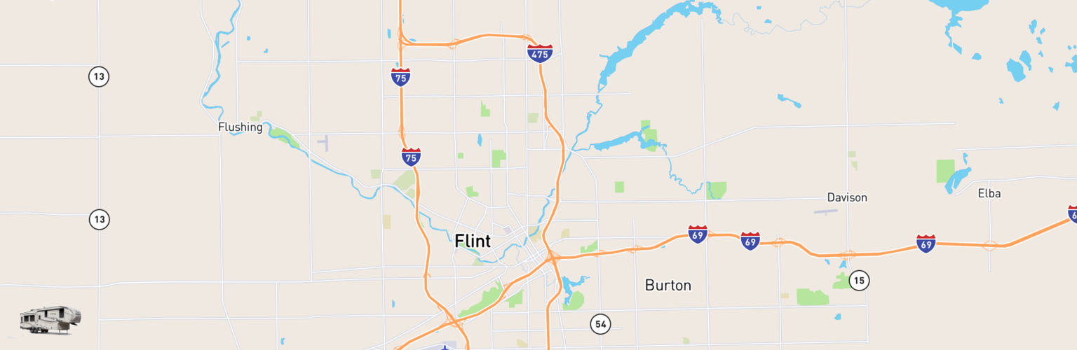 Fifth Wheel Rentals Map Flint, MI