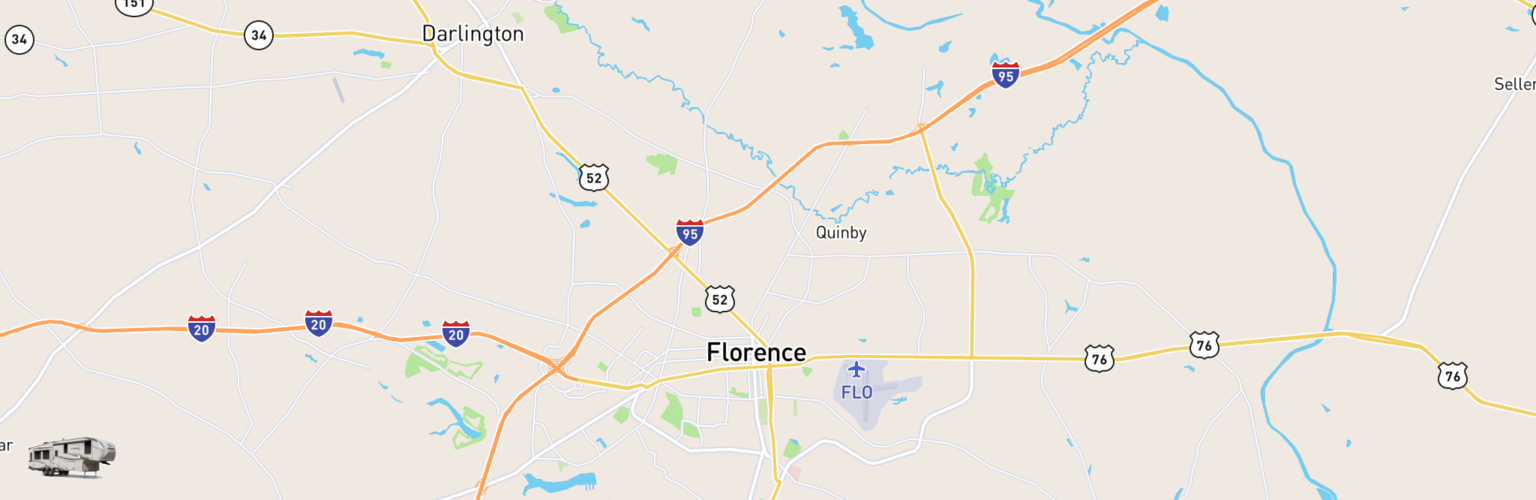 Fifth Wheel Rentals Map Florence, SC