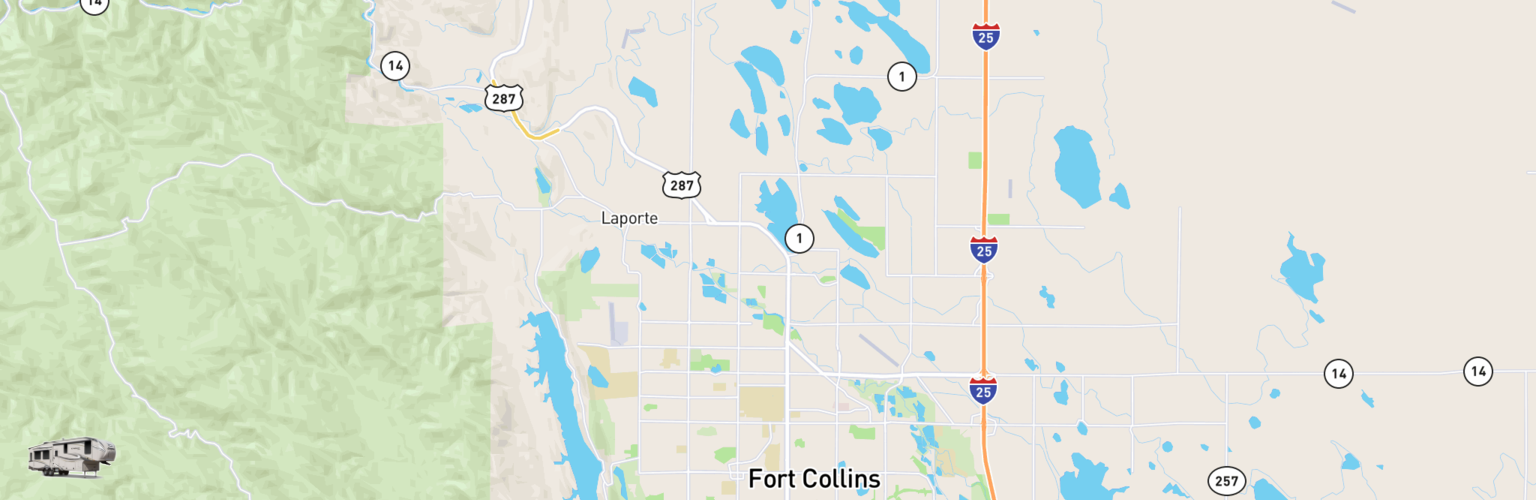 Fifth Wheel Rentals Map Fort Collins, CO