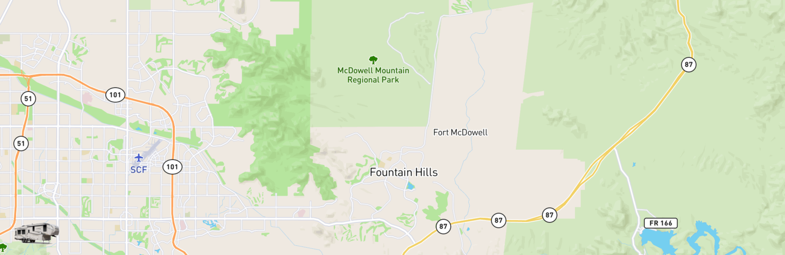 Fifth Wheel Rentals Map Fountain Hills, AZ