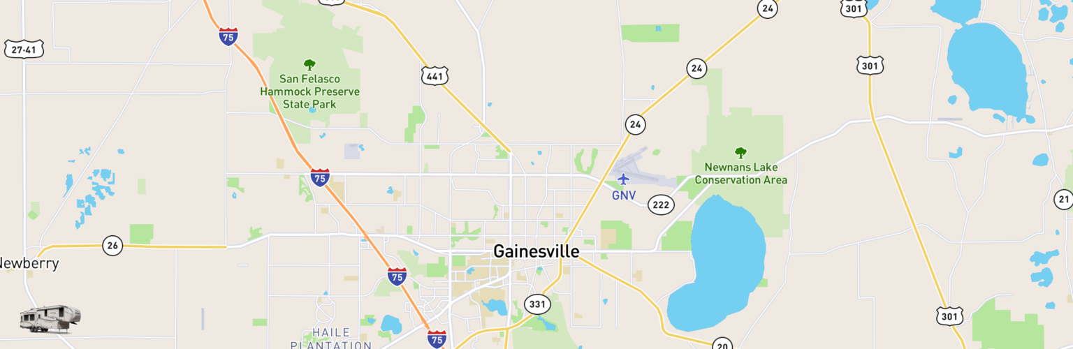Fifth Wheel Rentals Map Gainesville, FL