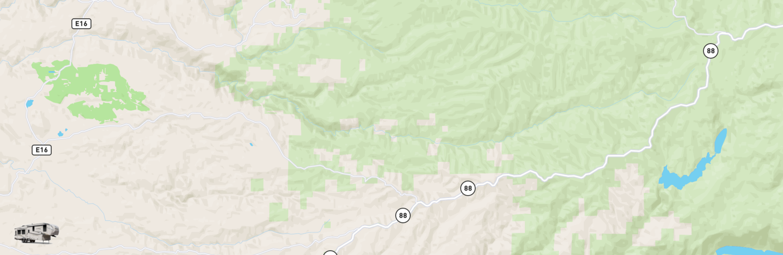 Fifth Wheel Rentals Map Gold Country, CA