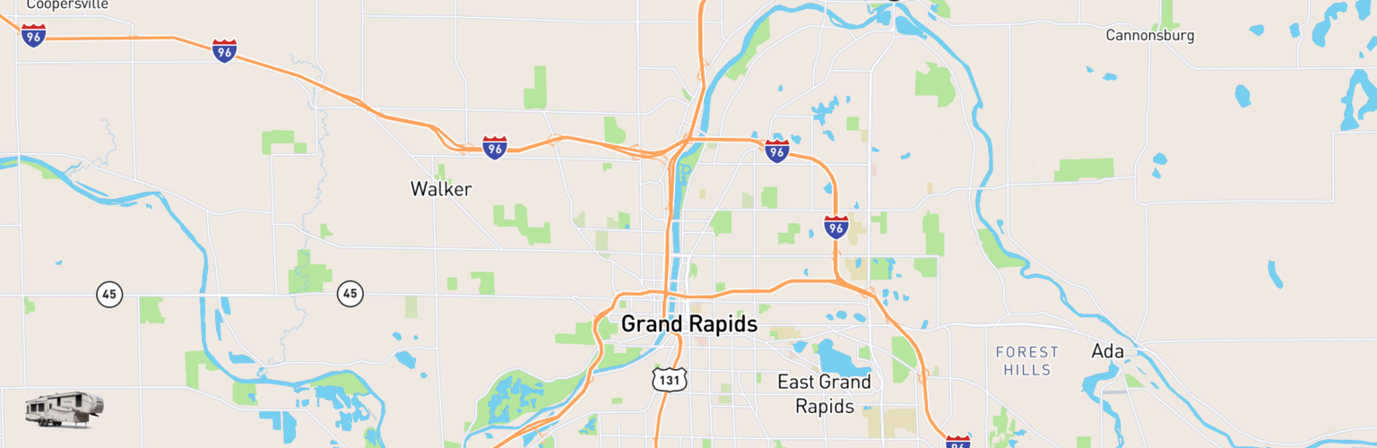 Fifth Wheel Rentals Map Grand Rapids, MI