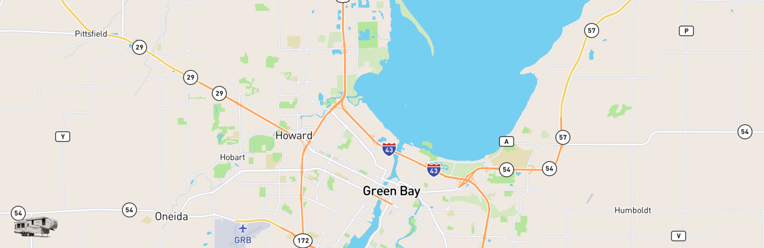 Fifth Wheel Rentals Map Green Bay, WI