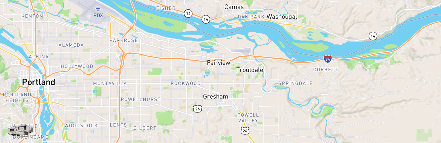 Fifth Wheel Rentals Map Gresham, OR