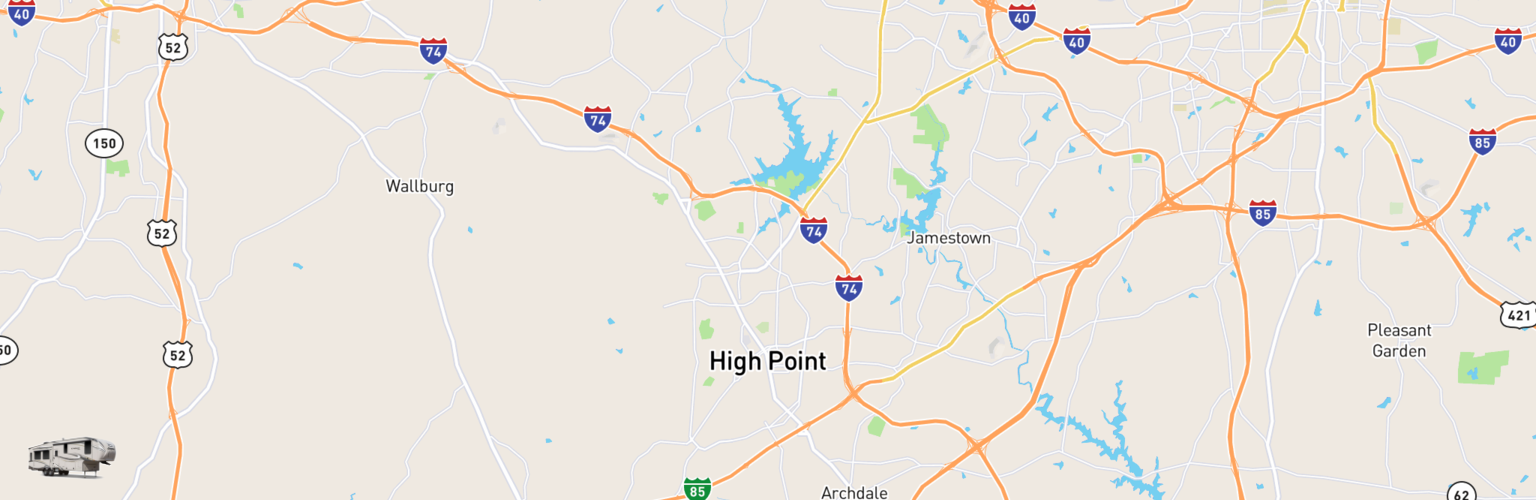 Fifth Wheel Rentals Map High Point, NC