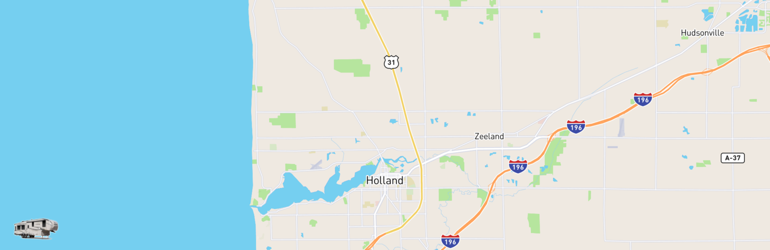 Fifth Wheel Rentals Map Holland, MI