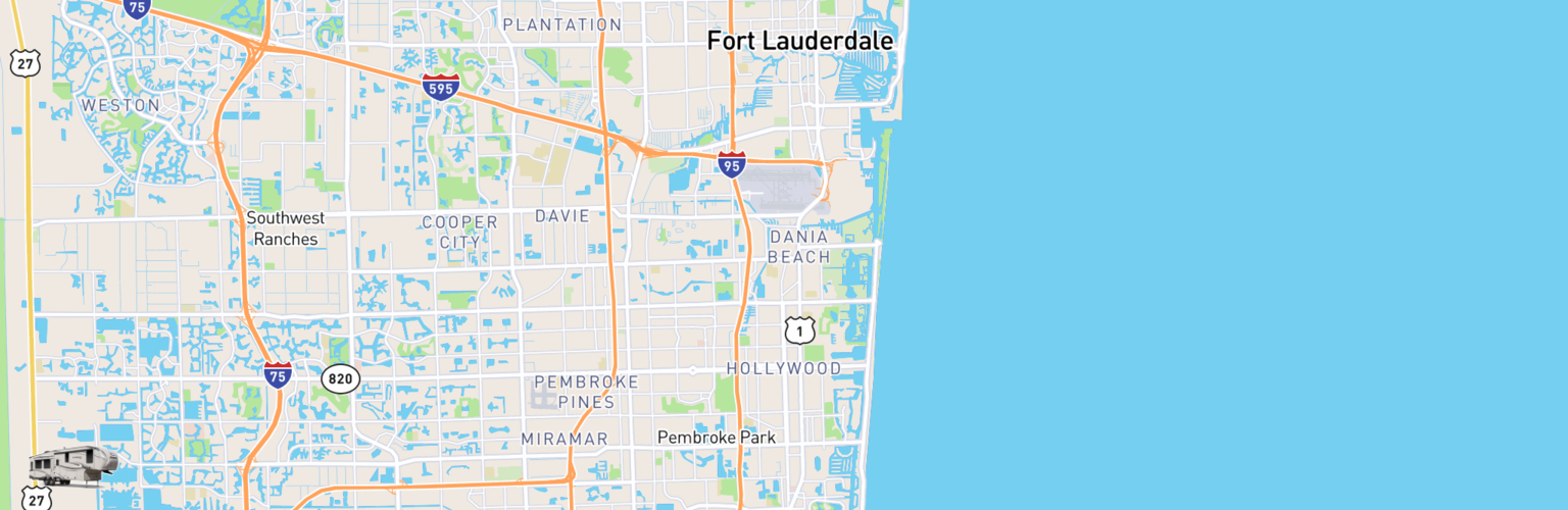 Fifth Wheel Rentals Map Hollywood, FL