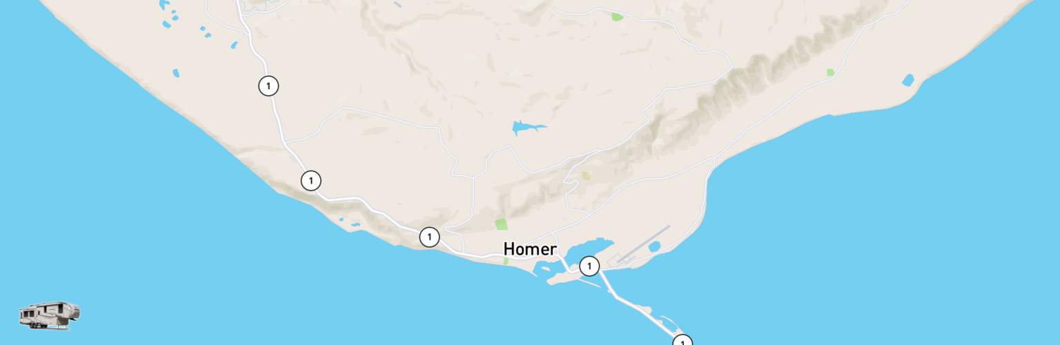 Fifth Wheel Rentals Map Homer, AK