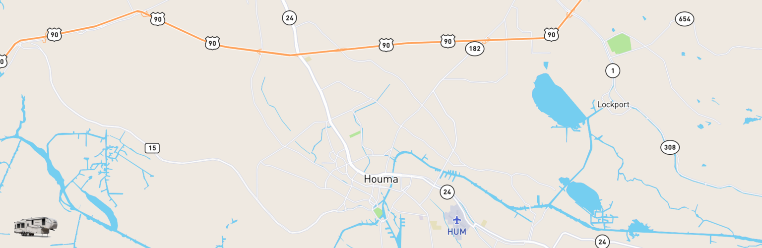 Fifth Wheel Rentals Map Houma, LA