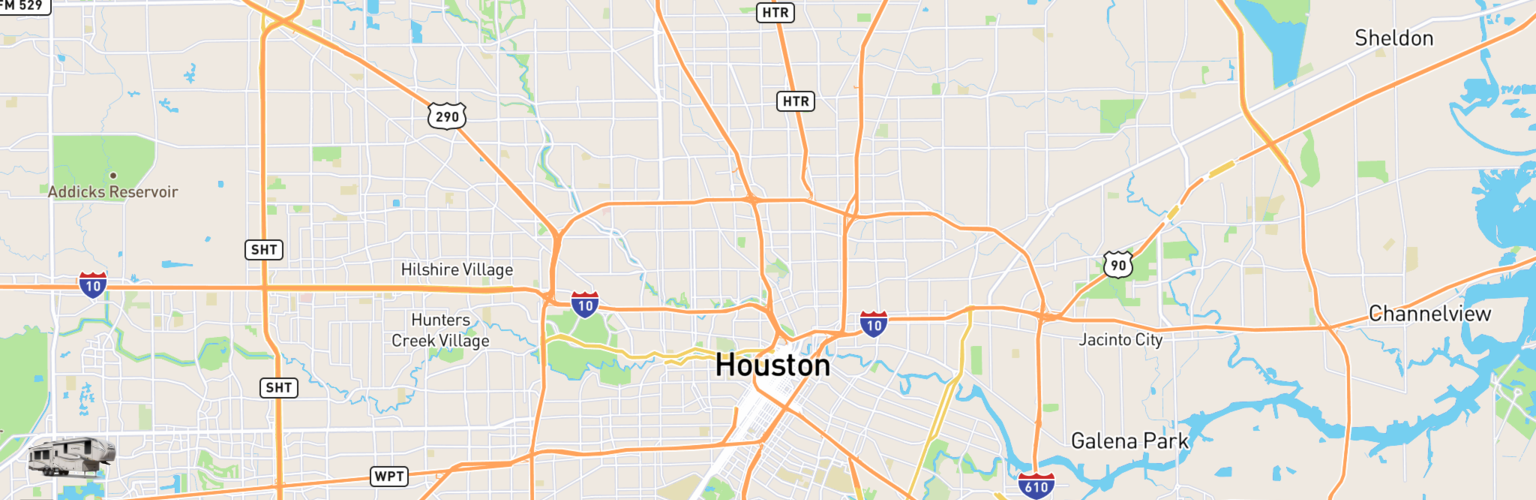 Fifth Wheel Rentals Map Houston, TX