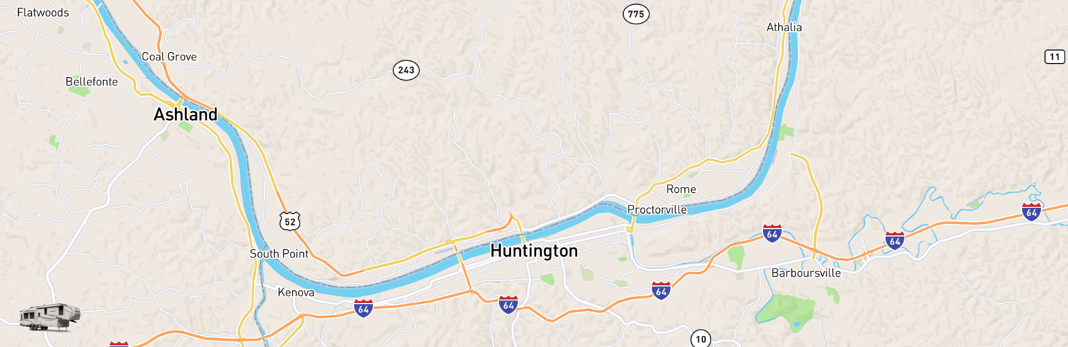 Fifth Wheel Rentals Map Huntington, WV