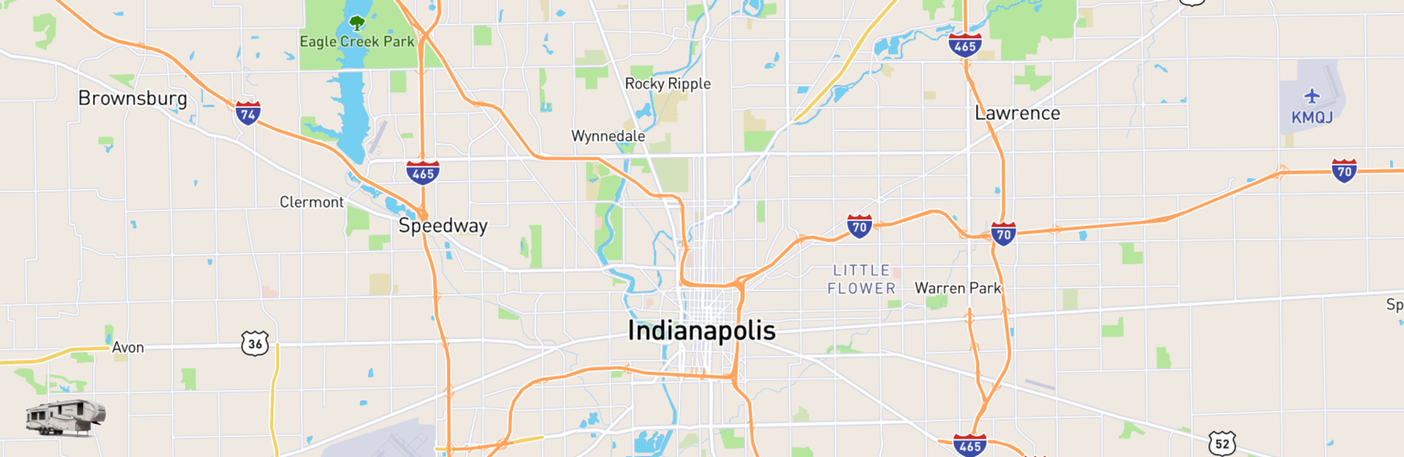 Fifth Wheel Rentals Map Indianapolis, IN