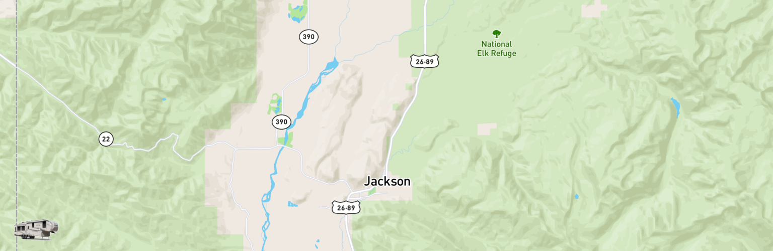 Fifth Wheel Rentals Map Jackson, WY