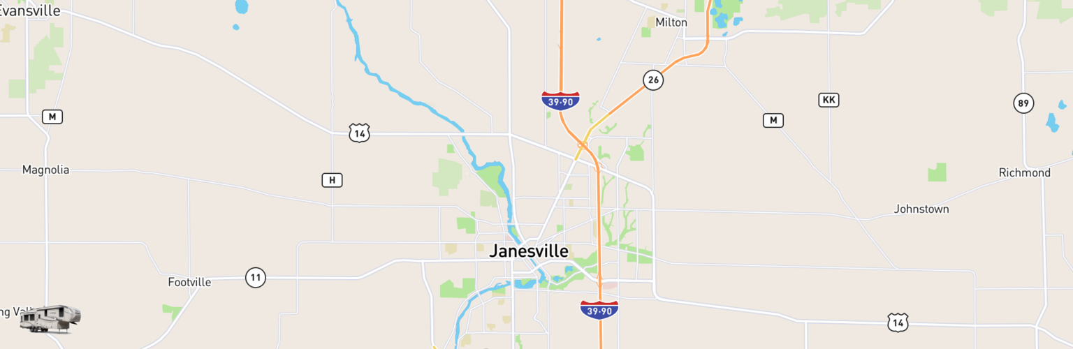 Fifth Wheel Rentals Map Janesville, WI