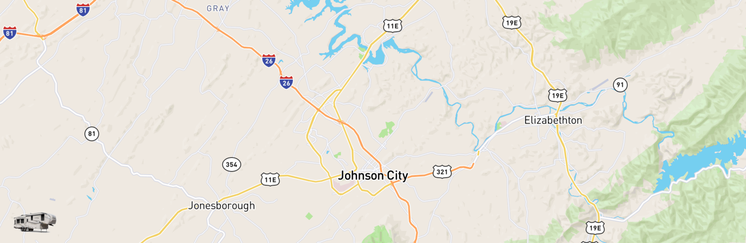 Fifth Wheel Rentals Map Johnson City, TN