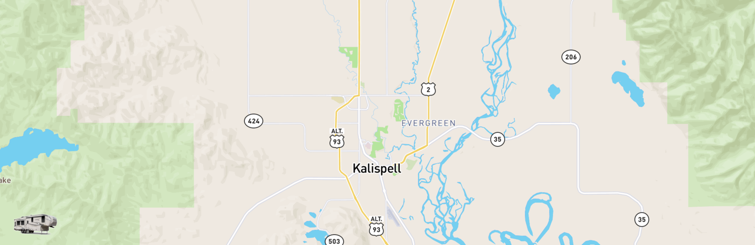 Fifth Wheel Rentals Map Kalispell, MT