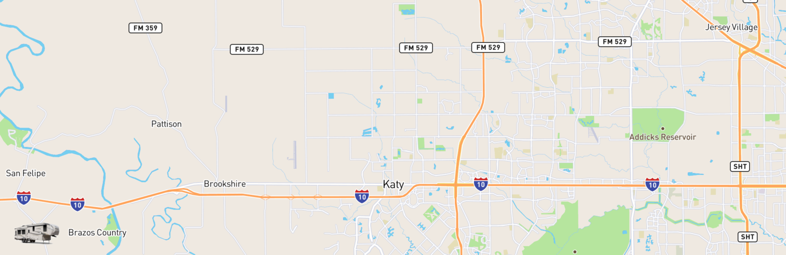 Fifth Wheel Rentals Map Katy, TX