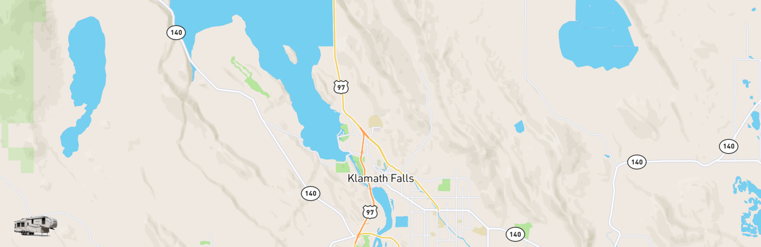Fifth Wheel Rentals Map Klamath Falls, OR