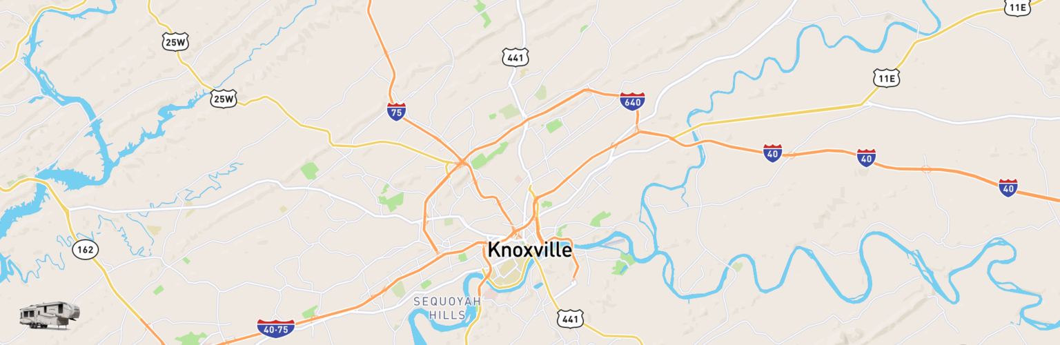 Fifth Wheel Rentals Map Knoxville, TN