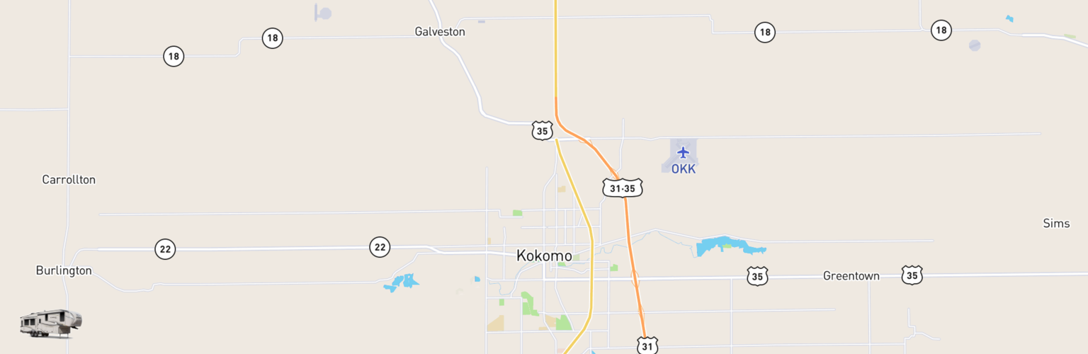 Fifth Wheel Rentals Map Kokomo, IN