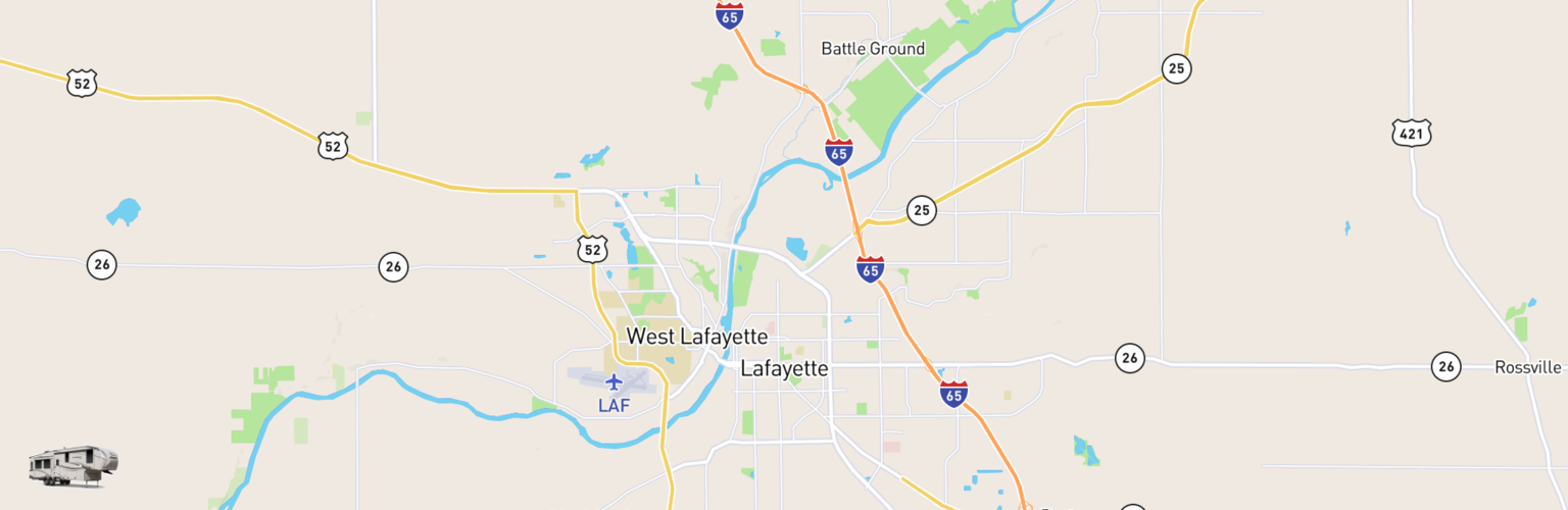 Fifth Wheel Rentals Map Lafayette, IN