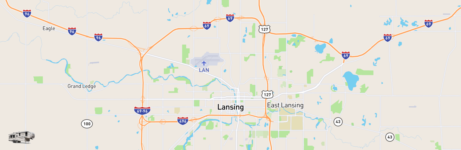 Fifth Wheel Rentals Map Lansing, MI