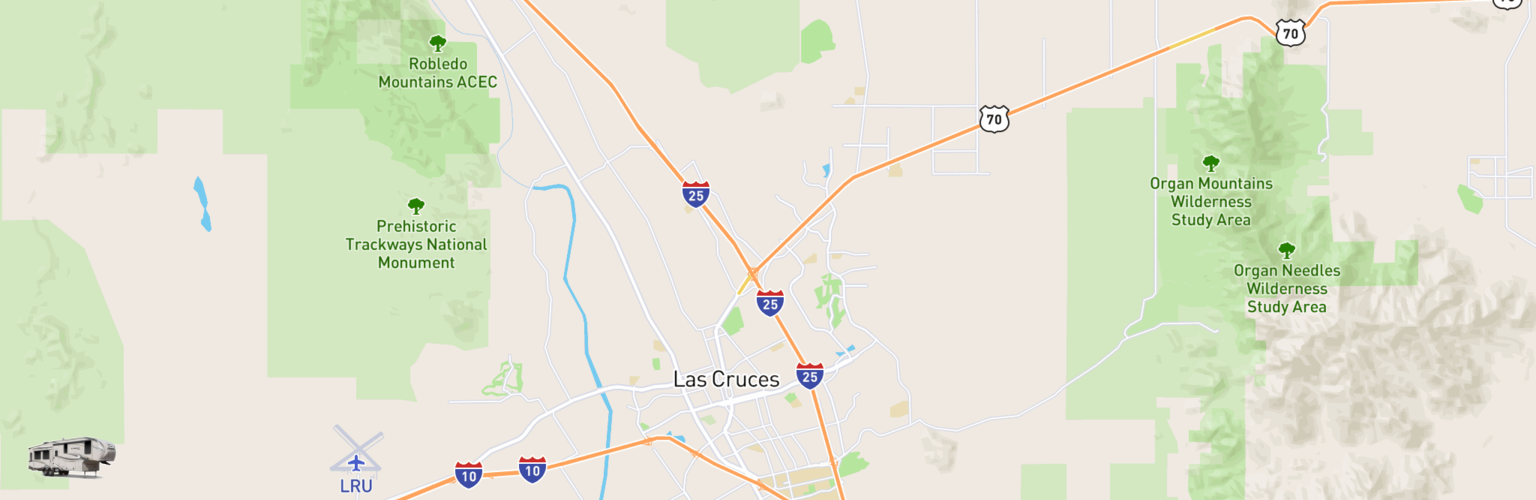 Fifth Wheel Rentals Map Las Cruces, NM