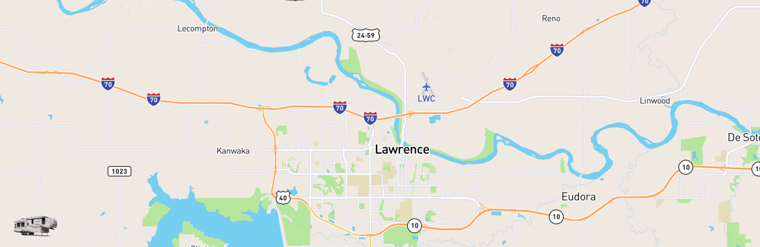 Fifth Wheel Rentals Map Lawrence, KS