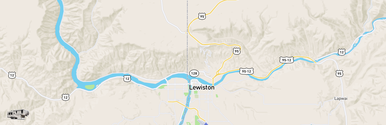 Fifth Wheel Rentals Map Lewiston Clarkston, ID