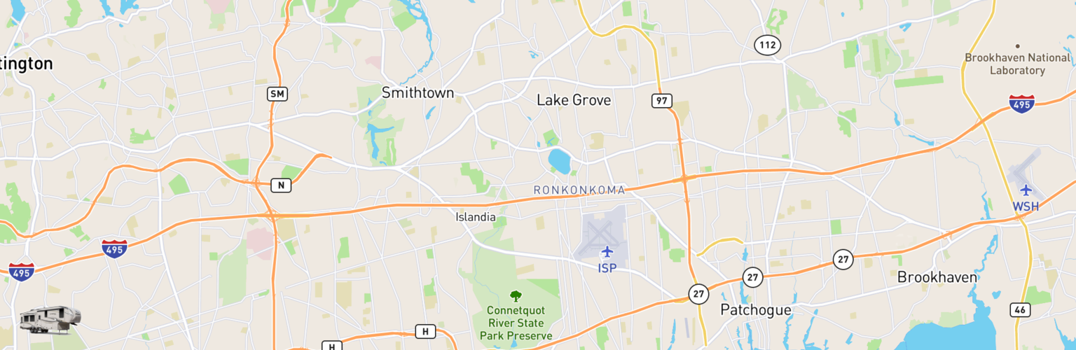 Fifth Wheel Rentals Map Long Island, NY