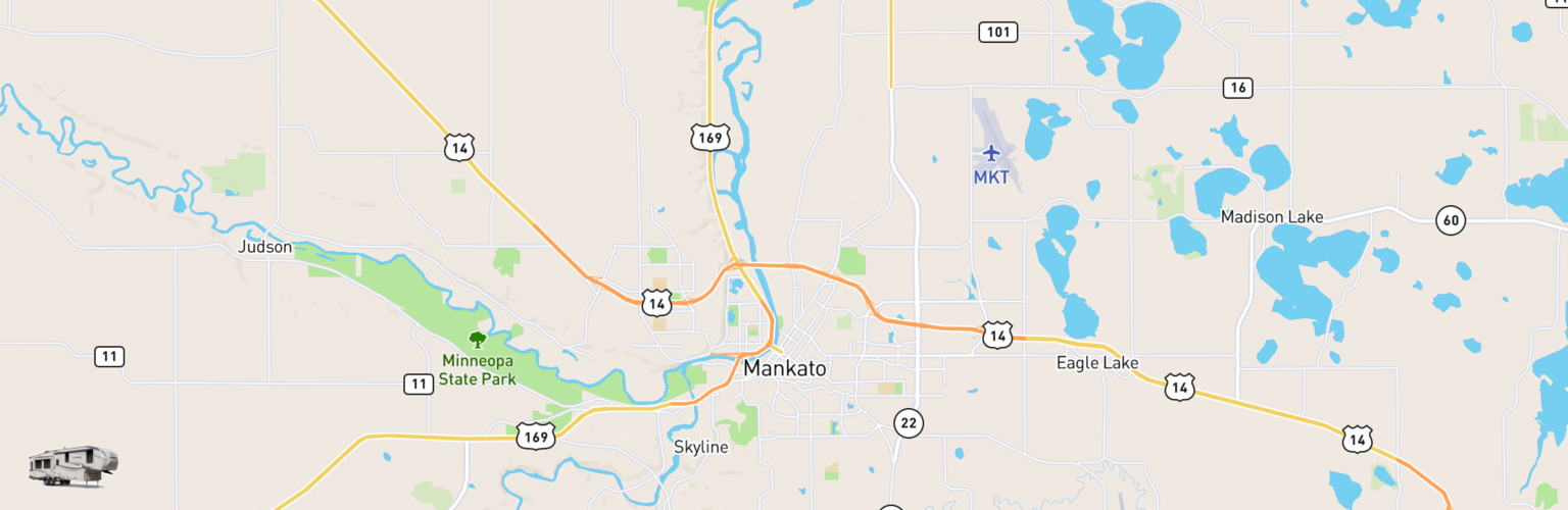 Fifth Wheel Rentals Map Mankato, MN
