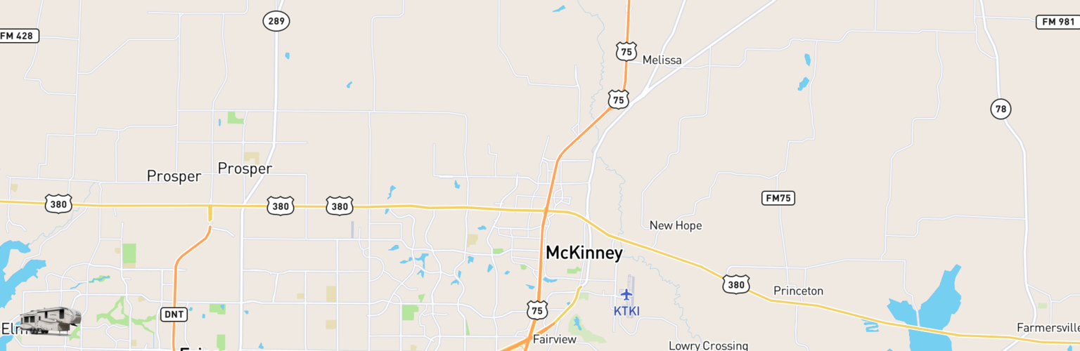 Fifth Wheel Rentals Map Mckinney, TX