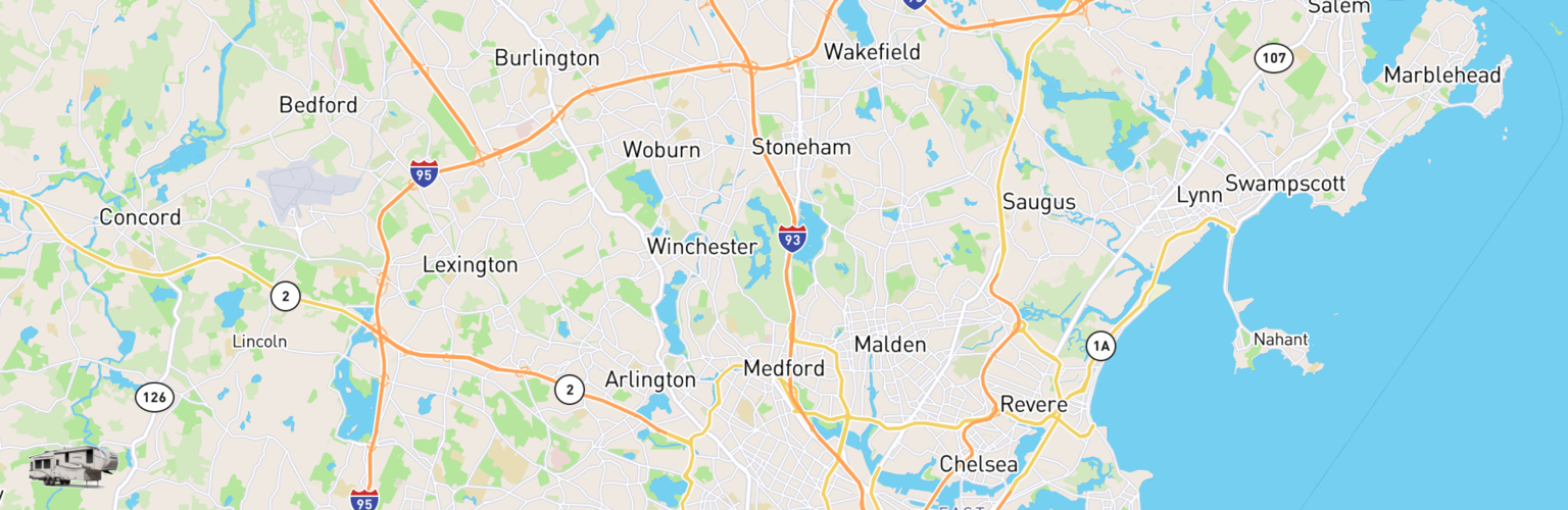 Fifth Wheel Rentals Map Medford, MA
