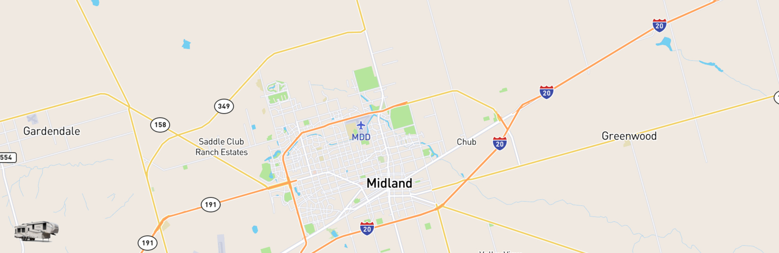 Fifth Wheel Rentals Map Midland, TX