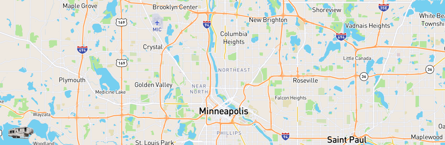 Fifth Wheel Rentals Map Minneapolis, MN