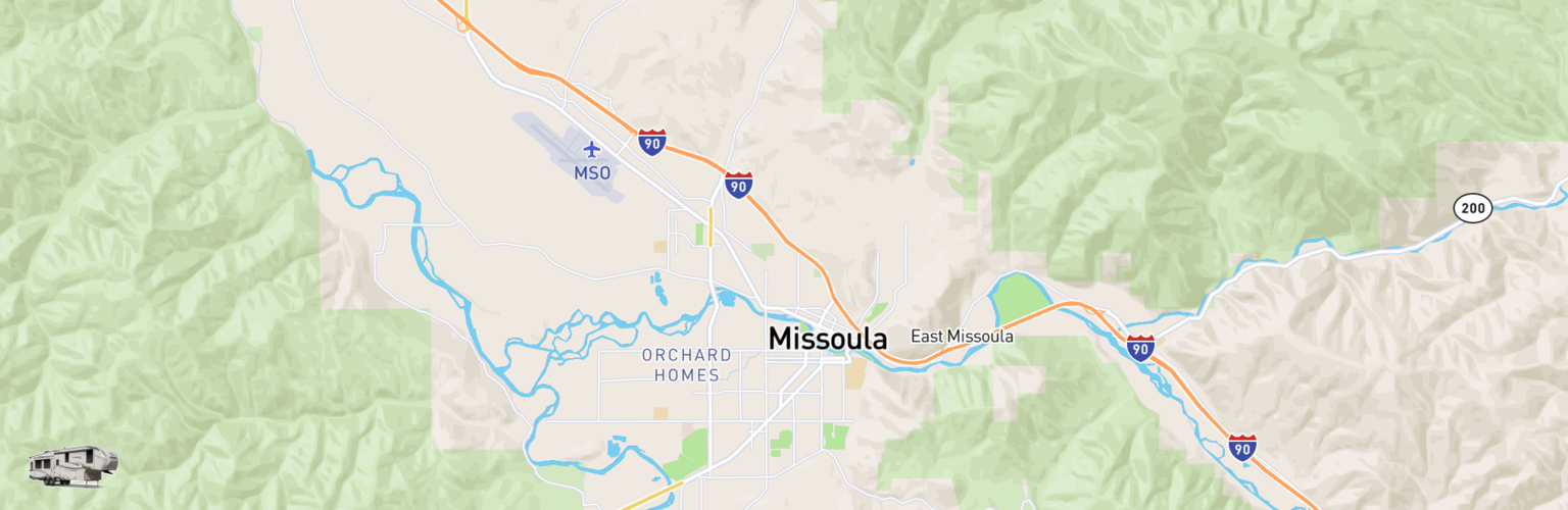 Fifth Wheel Rentals Map Missoula, MT