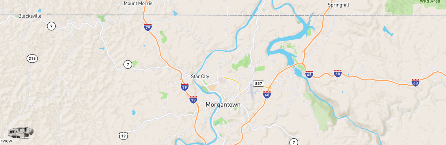 Fifth Wheel Rentals Map Morgantown, WV