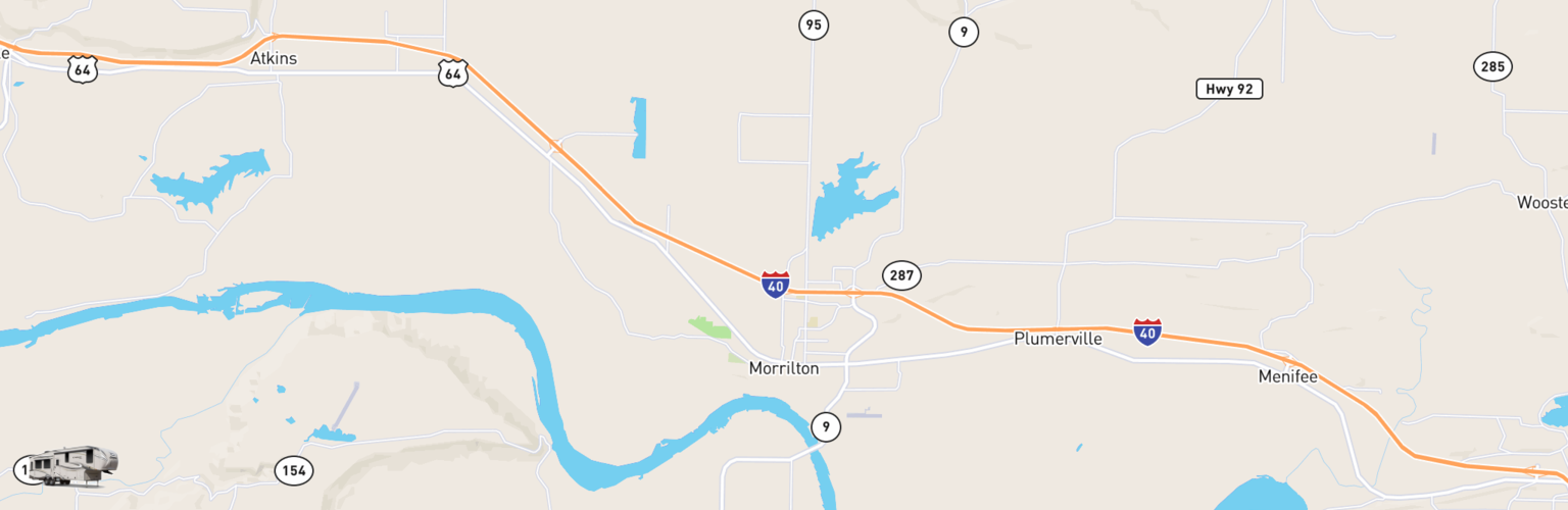 Fifth Wheel Rentals Map Morrilton, AR