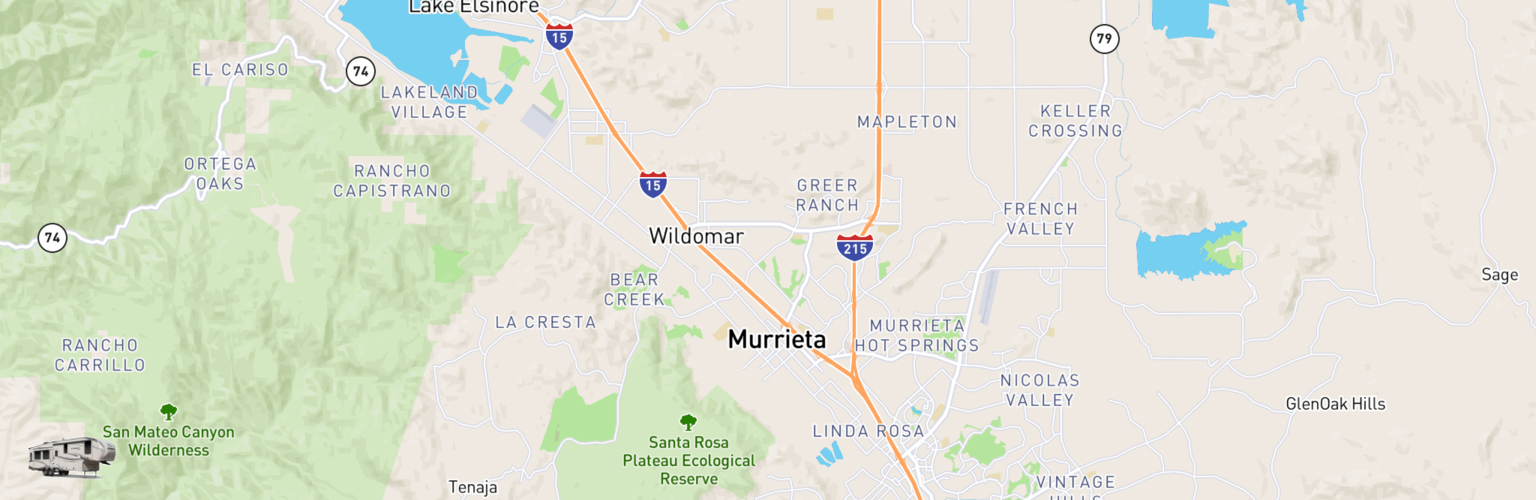 Fifth Wheel Rentals Map Murrieta, CA