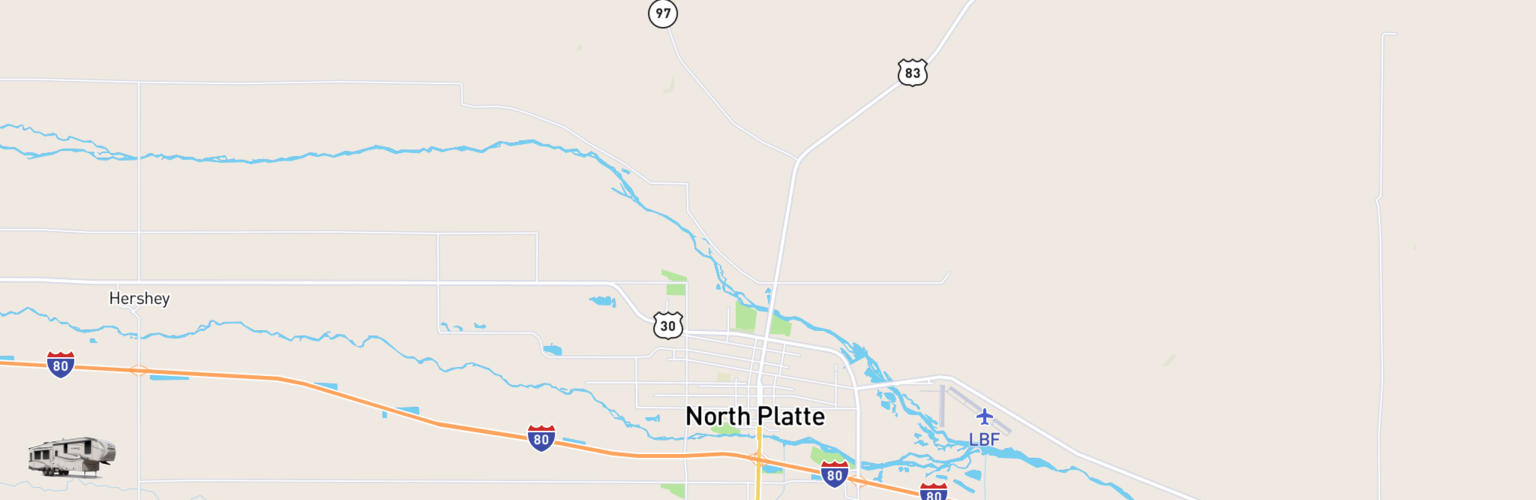 Fifth Wheel Rentals Map North Platte, NE