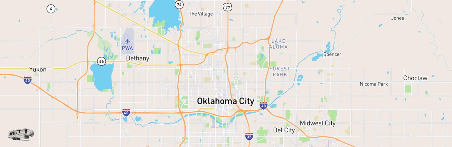 Fifth Wheel Rentals Map Oklahoma City, OK