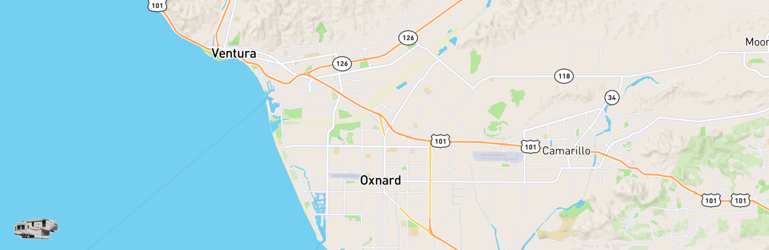 Fifth Wheel Rentals Map Oxnard, CA