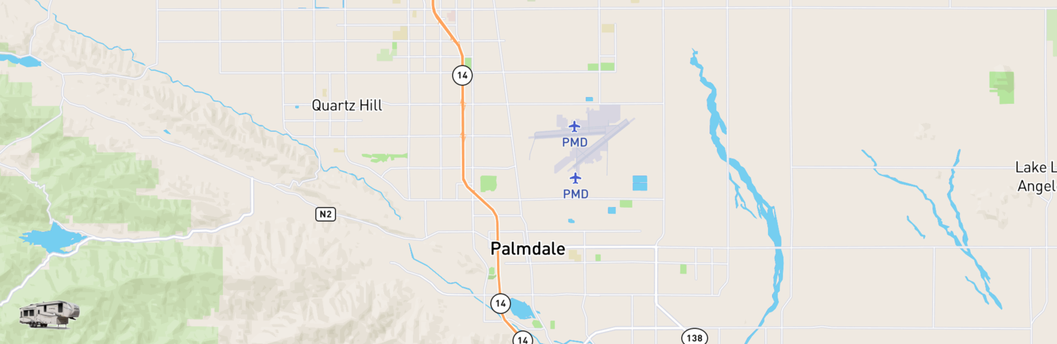 Fifth Wheel Rentals Map Palmdale, CA