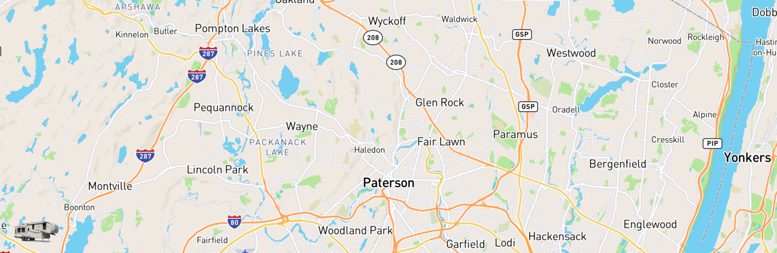 Fifth Wheel Rentals Map Paterson, NJ